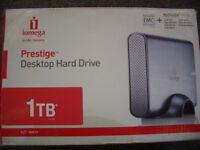 1TB Iomega external hard drive HDD USB