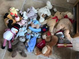 Stuffed toy bundle.