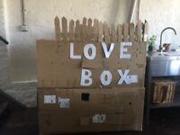 LOVE BOX play house & a red ferrari