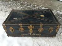 Vintage Suitcase Trunk Chest Travel Canadian