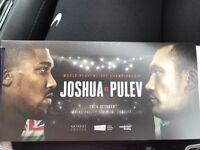 4 tickets Joshua v pulev upper north 1 in hands £220 for all 4