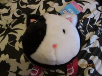 ANIMAL HOSPITAL CAT FACE FUR BACK PACK VERY CUTE BRAND NEW WITH TAGS