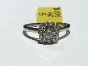 #1515 14K WHITE GOLD LADIES DIAMOND ENGAGEMENT RING *SIZE 5* JUST BACK FROM APPRAISAL AT $2100.00 SELLING FOR $695.00!