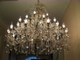 Truely Magnificent ~ 30-arm, 3-tier crystal chandelier, absolutely massive