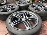 "19"" Audi A5 Segment Style Refurbished Alloy wheels 235/40/19 tyres A6 VW 5x112"