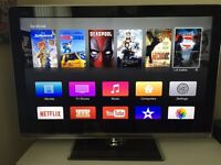 "40"" Sharp Aquos LED Quattron TV - Full HD, Built in Freeview, 4 x HDMIs"
