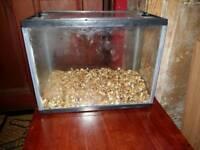 Small glass tank