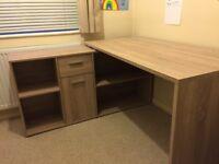 Corner-Combination Office Desk, 136 x 75 x 68 cm