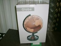 Globe Touch lamp; atlas and lamp all in one!