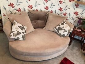 DFS 2 seater & cuddle sofas