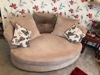 DFS 2 seater & cuddle sofas