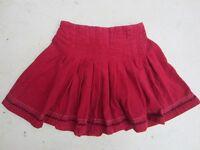 Girl's red corduroy skirt, 10 yrs