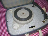 Vanity Case Record Player 50's/60's