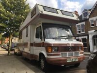 Mercedes 208D Apache Turbo Campervan (1991). Great condition, Low mileage, Long MOT (no advisories).