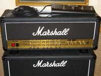 Marshall JCM2000 Triple Super Lead TSL100 valve head with footswitch, works but needs servicing