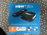Now TV Box with 6 Month Entertainment Pass - Brand New
