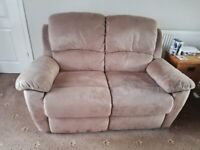 Reclining sofa & two chairs