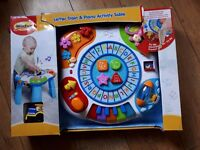 Baby letter train and piano table