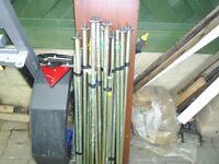 approx 9 upright poles for frame tent or awning on trailer tent