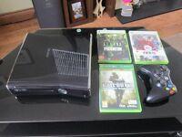 Xbox 360 250GB + 3 Games