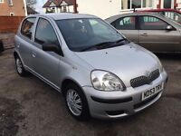 2004 TOYOTA YARIS 5DOORS-T3-1.3,86000 LOW MILES,FULL VOSA HISTORY,MOT OCT.2017,TWO KEYS,HPI CLEAR
