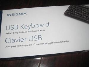 Insignia USB Wired Keyboard with Number Pad $5. Insignia Wireless Keyboard $8. PC Computer. Macbook. Desktop Laptop. NEW