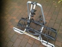 Towbar mounted bike rack for 2 adult bikes. Witter detachable towbar fitment and electrics