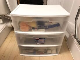 Sterilite storage cart (three wide drawers) - £20