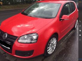 VOLKSWAGEN GOLF GT TDI SPORT (140) RED ,FULL LEATHER ,MOT MAY 2019 ,MANUAL ,TIMING BELT BEEN DONE