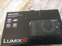 Brand New Panasonic DMC-GX80K camera with 12-32mm lens still in box