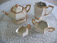 Art Deco Hexagonal TeaPot Set
