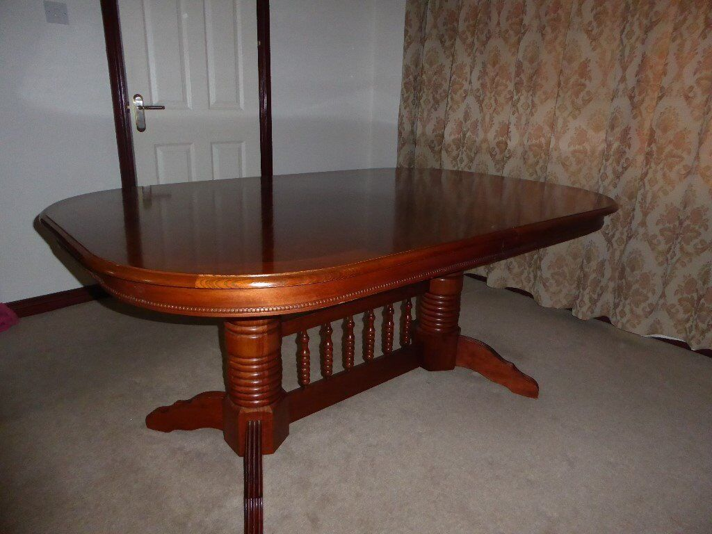 Cherry Wood Dining Room Table.