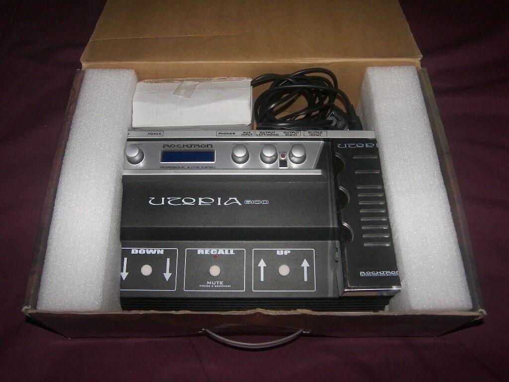 Rocktron Utopia G100 Guitar Multi Effects Pedal.