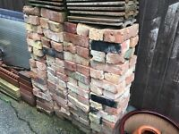 180 mixed colour reclaimed stock bricks.