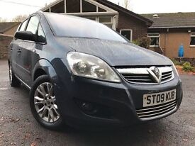 *TRULY A *1*OFF EXAMPLE*12 MTHS WARRANTY*2009(09)VAUXHALL ZAFIRA 1.6I 16V ACTIVE PLUS 7 SEATER*