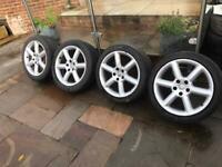 "nissan 350Z alloy wheels 18"" Alloys With Tyres 5x114.3"