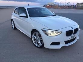 BMW 120D M SPORT AUTO 2013 WHITE, £30 TAX, XENONS