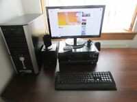 Desktop computer plus all accessories