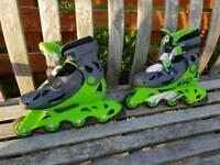Boy's or girl's roller blade skates - adjustable