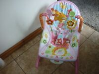 Fisher Price PINK Baby Chair Infant to Toddler Rocker with Toybar