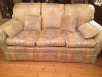 3 seeater sofa with matching footstall