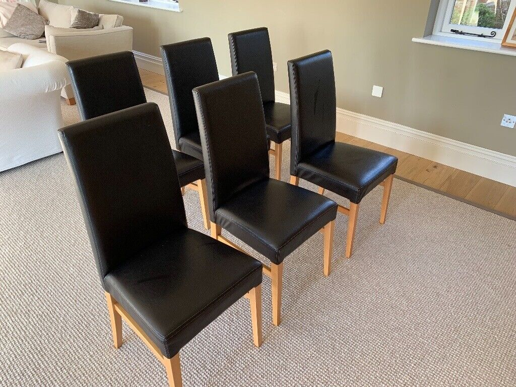 Admirable 6 Dining Room Chairs Dark Brown Black In Charlton Kings Gloucestershire Gumtree Gmtry Best Dining Table And Chair Ideas Images Gmtryco