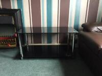Glass coffee table and matching TV unit