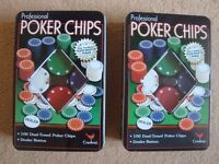 Professional Poker Chips from Cardinal 100 Dual-tone poker chips in box x 2