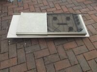 Cooker hob and sink unit top