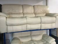 NEW / EX DISPLAY Leather LazyBoy Melissa 3 + 2 Electric Recliner Sofas