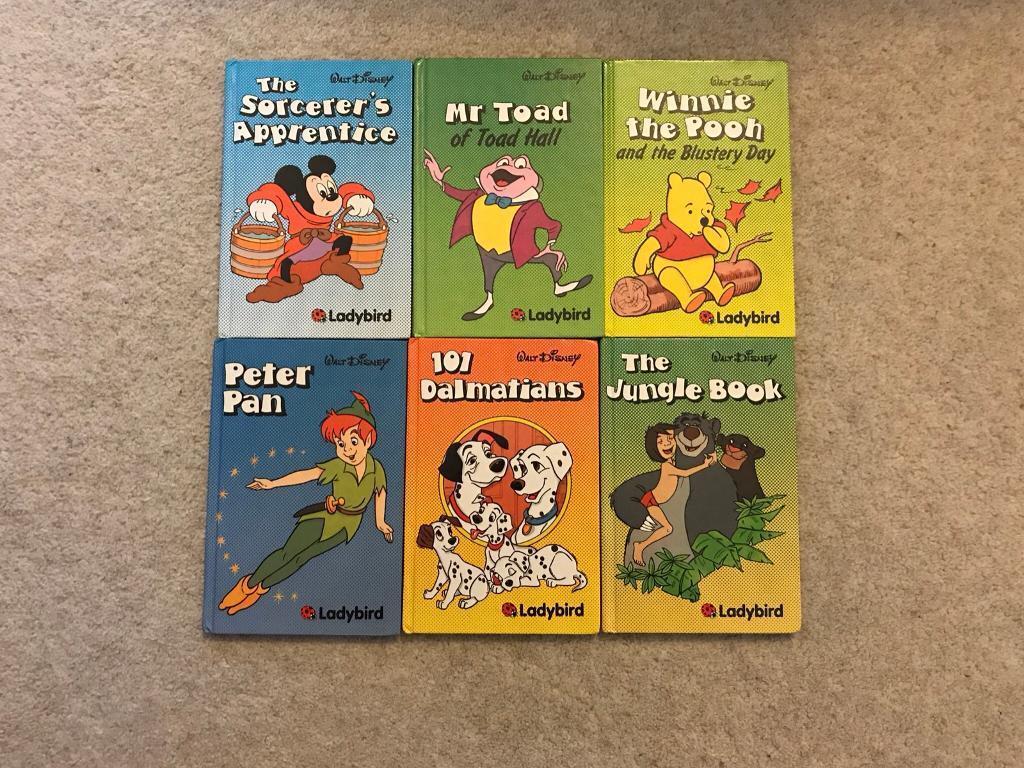 Collection of 6 Lady Bird Disney Books