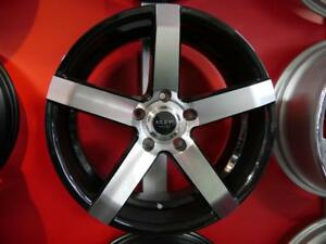 18 INCH BRAND NEW BLACK & MACHINED CONCAVE RIMS - RIM SALE - NEW