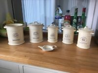 Full set of 'Pride of Place' kitchen storage pots.