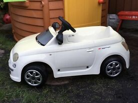 Very authentic white Fiat 500 pedal car. Full working condition